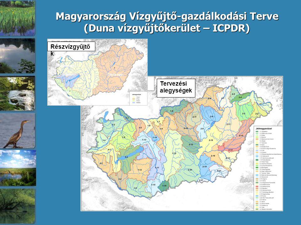 Részvízgyűjtő k Tervezési alegységek Duna vgy. Dráva vgy. Tisza vgy.Balaton Magyarország Vízgyűjtő-gazdálkodási Terve Magyarország Vízgyűjtő-gazdálkod