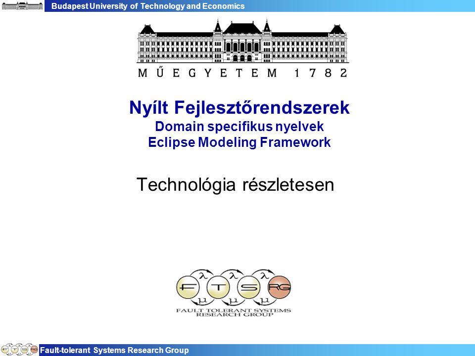 Budapest University of Technology and Economics Fault-tolerant Systems Research Group 12 eClass()  Gyakran használt metódus  Minden üzleti objektum megkaphatja a saját EClass reprezentációját  Hasonló a Java getClass() hívásához −reflexió