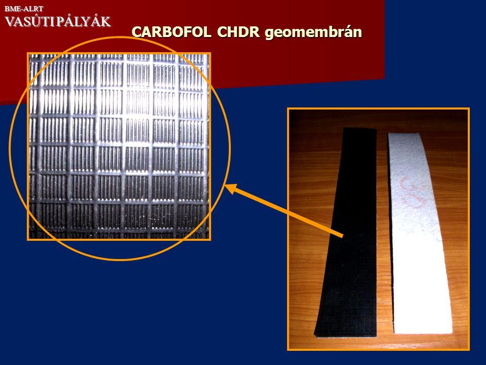 CARBOFOL CHDR geomembrán BME-ALRT VASÚTI PÁLYÁK
