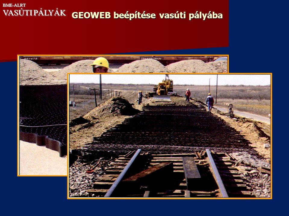 GEOWEB beépítése vasúti pályába BME-ALRT VASÚTI PÁLYÁK