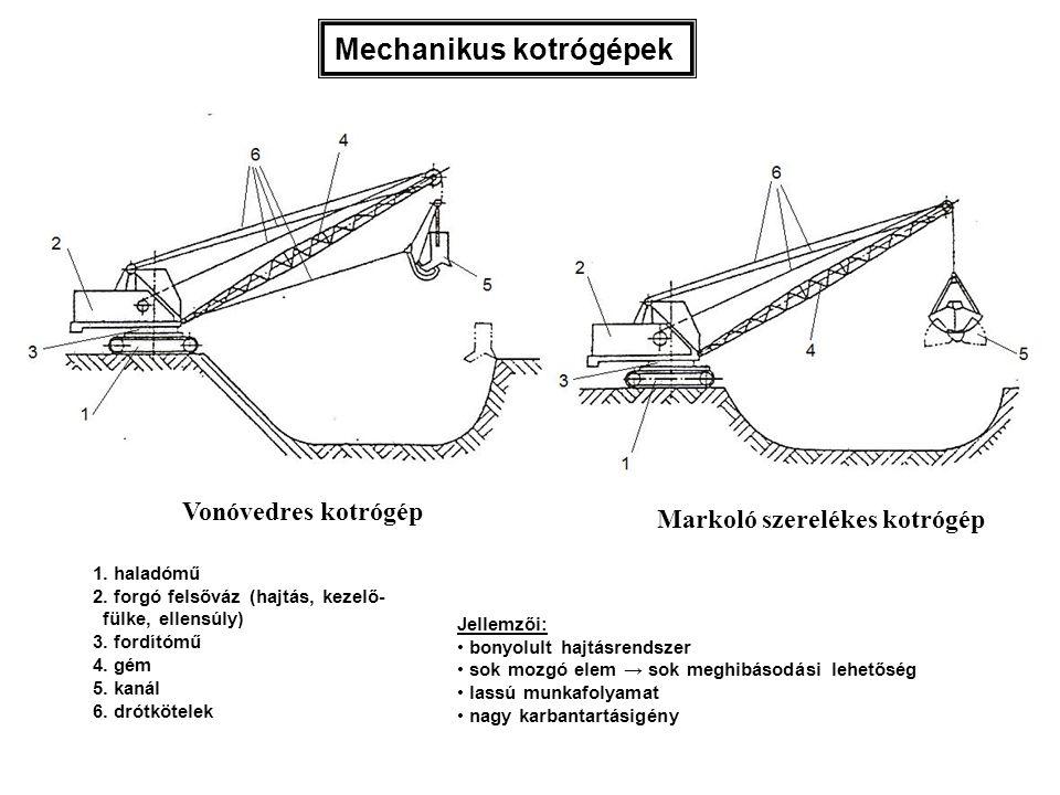 Tömörítőhenger: a haladási sebesség kicsi ( 5 … 20 km/ó ), ezért - mechanikus hajtásnál a motor után nagy lassító át- tétel (fogaskerekes hajtómű, lánchajtás) szükséges; - hidraulikus hajtásnál alacsony fordulatszámú, nagy nyomatékú hidromotort alkalmaznak.