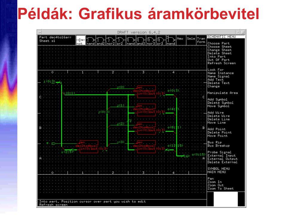 Példák: Grafikus áramkörbevitel