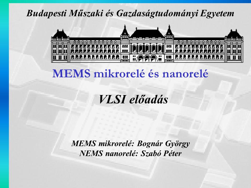 Előadás menete RF MEMS eszközök lehetséges felhasználási területei Hagyományos relék, SSR és MEMS mikrorelék összehasonlítása RF MEMS mikrorelék csoportosítása (működési elv, felépítés szerint) Mágneses elven működő MEMS mikrorelék Elektrosztatikus elven működő MEMS mikrorelék Termikus elven működő MEMS mikrorelék Nanorelé Bevezetés 2