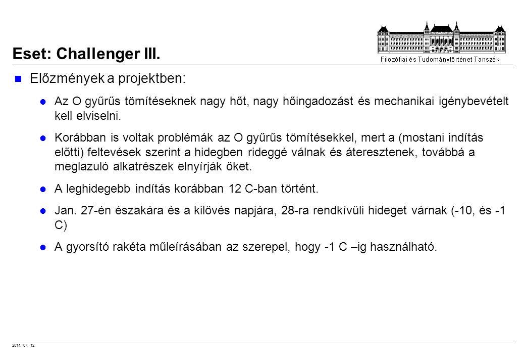 2014. 07. 12. Előzmények a projektben: Az O gyűrűs tömítéseknek nagy hőt, nagy hőingadozást és mechanikai igénybevételt kell elviselni. Korábban is vo