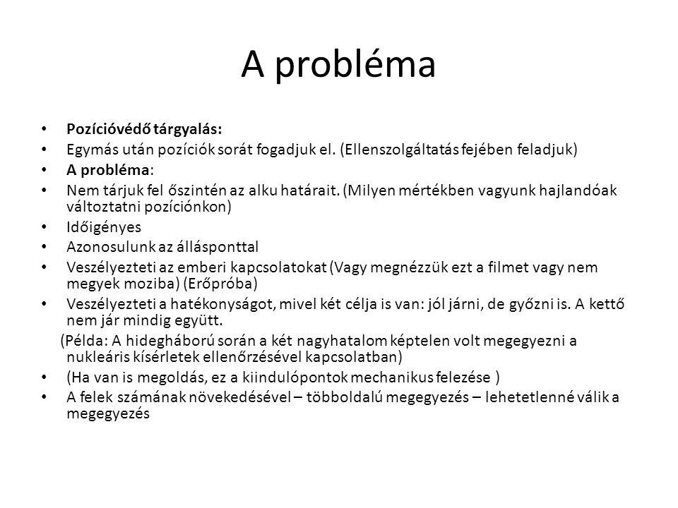 Egy másik út Négy fő elv: Emberek: Válaszd le a személyeket a problémáról.