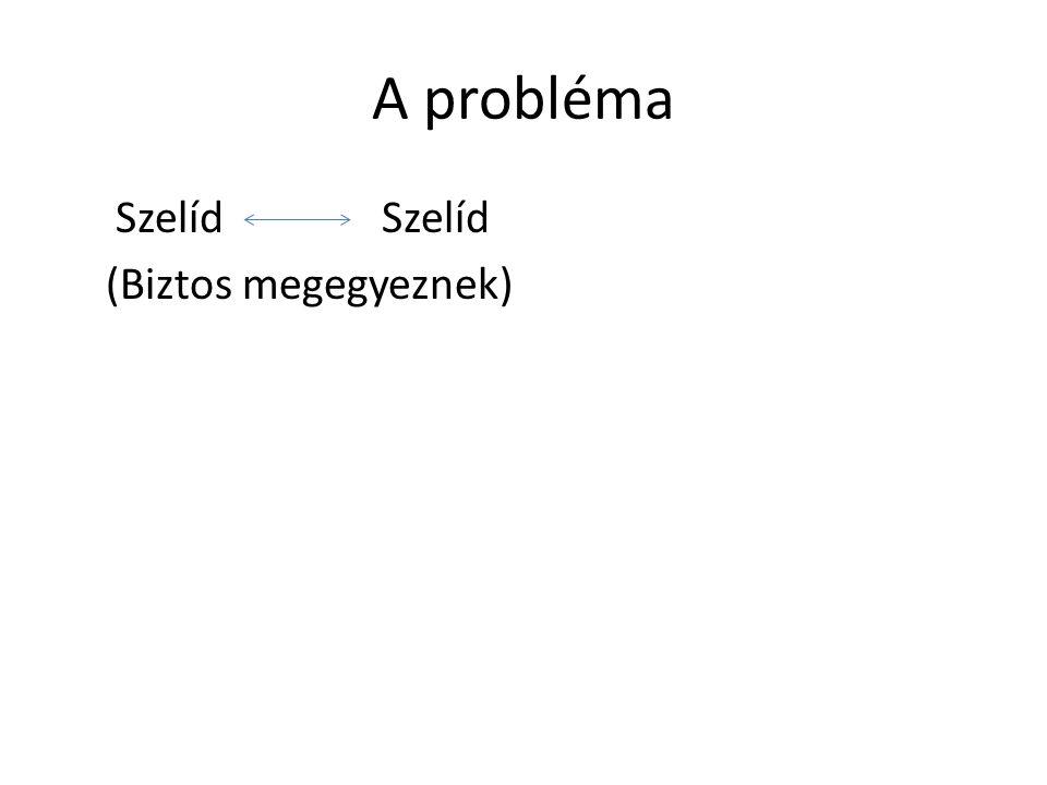 A négy alapelv 1.Válasszuk le a személyt a problémáról.