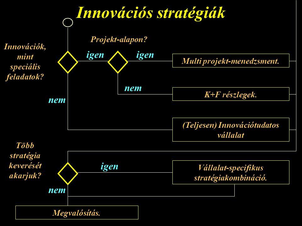 Innovációs stratégiák Projekt-alapon.Multi projekt-menedzsment.