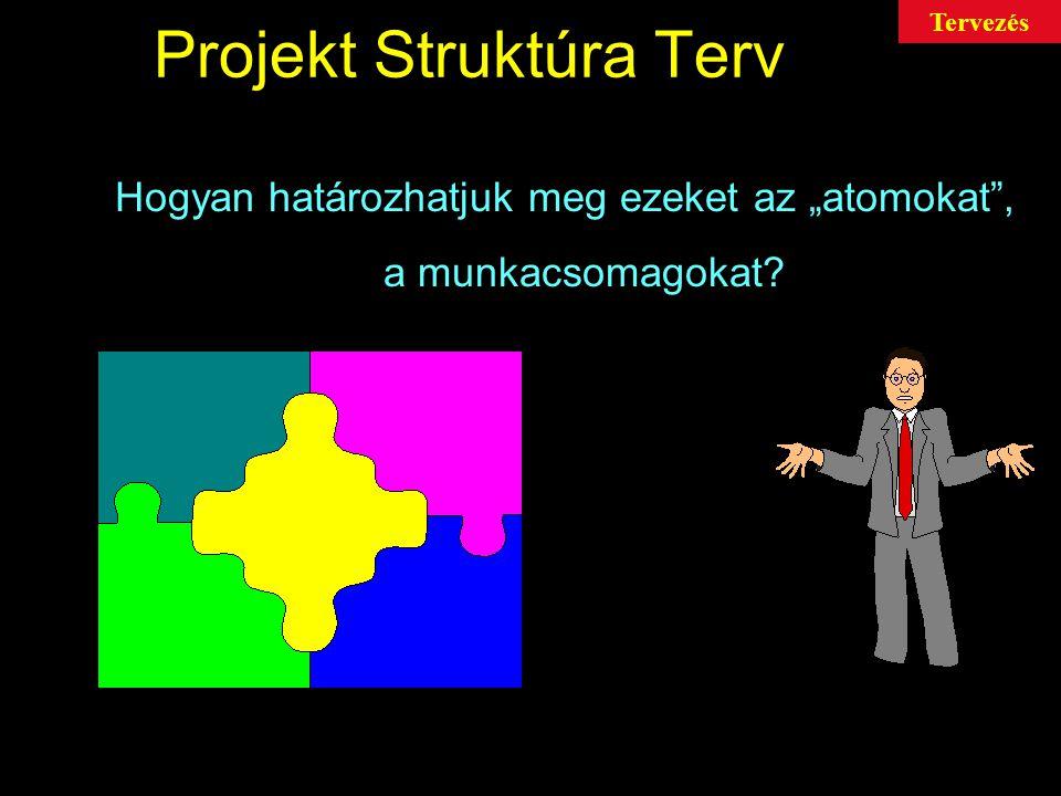 """Projekt Struktúra Terv Hogyan határozhatjuk meg ezeket az """"atomokat , a munkacsomagokat? Tervezés"""
