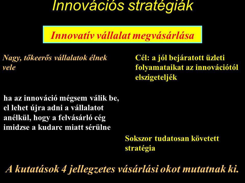 Innovációs stratégiák licencvásárlás Információk a licenc tárgyáról a szabadalmi oltalom hossza, a licenc exkluzivitása, Licenckapcsolatok (más licencek odaadása), Licenc futamideje, jogi konfliktusok szabályozása egyéb gazdaságjogi problémák, pl.