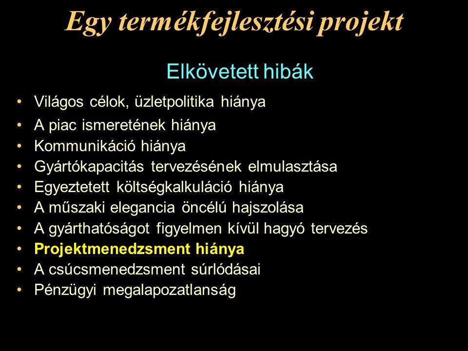 E P I L Ó G U S Egy termékfejlesztési projekt