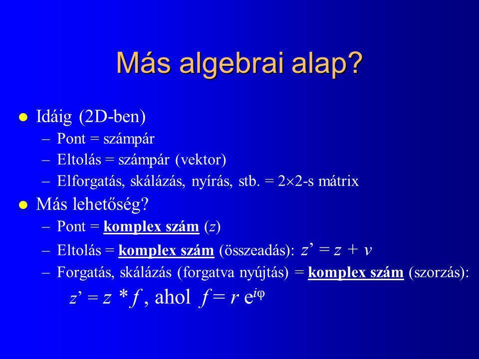 Más algebrai alap.