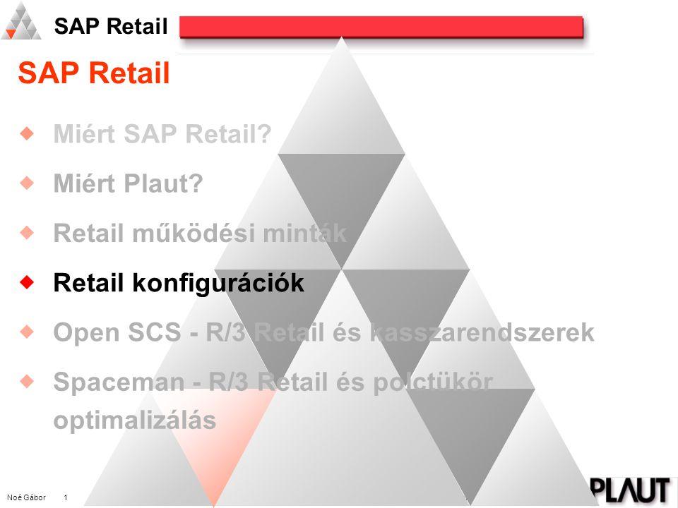 Noé Gábor 1 PLAUT International Management Consulting SAP Retail  Miért SAP Retail.