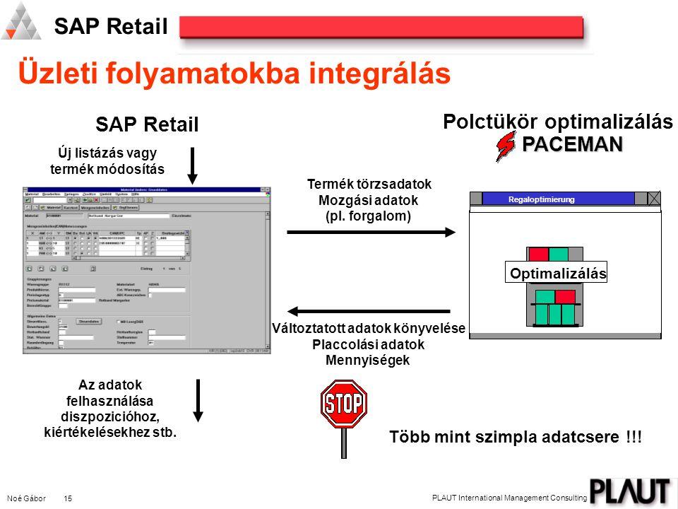 Noé Gábor 16 PLAUT International Management Consulting SAP Retail Programozói interface biztosítása a külső hozzáféréshez - BAPI.
