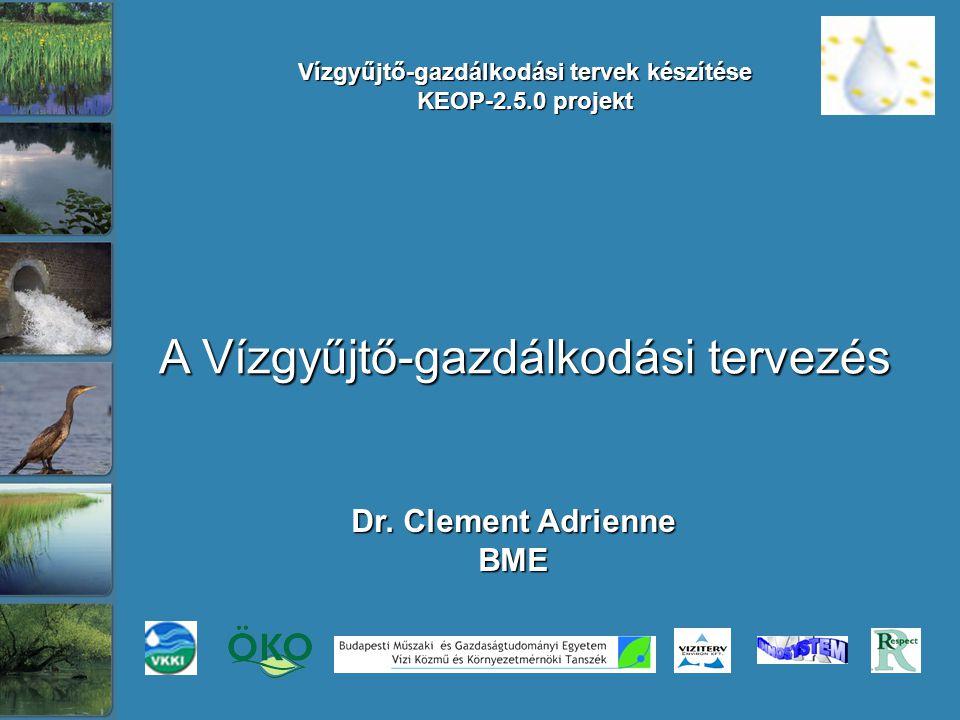 Vízgyűjtő-gazdálkodási tervek készítése KEOP-2.5.0 projekt Dr.