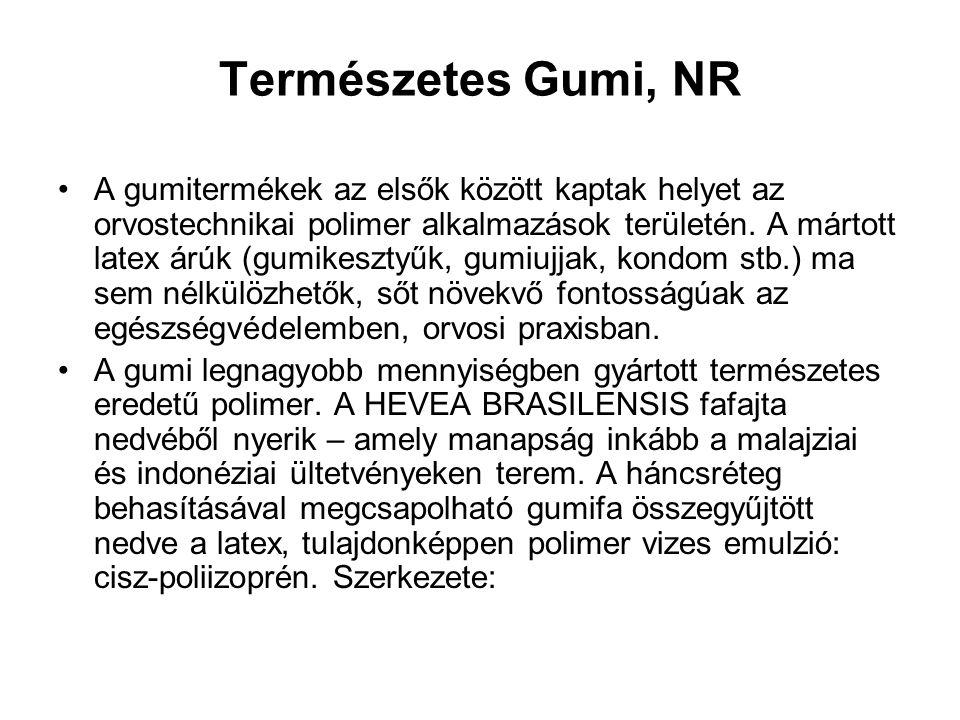 Természetes Gumi, NR A gumitermékek az elsők között kaptak helyet az orvostechnikai polimer alkalmazások területén. A mártott latex árúk (gumikesztyűk