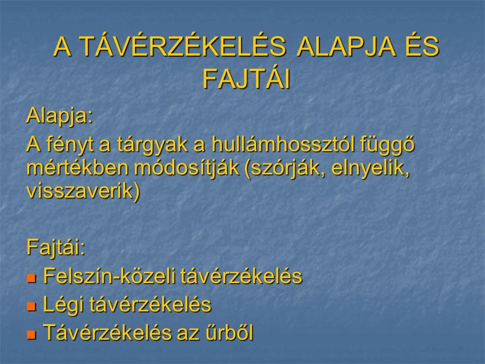 Balaton vízminőségi távérzékelés Forrás: Szilágyi F.