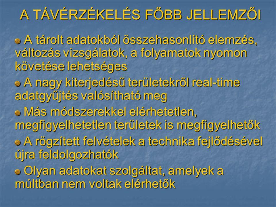 ALKALMAZÁSOK: Erdőtüzek Tenerifén http://www.bolyai.elte.hu/download/eloadas/szakmai/innov/200720081/esszek/JL_Jurec ska_L_A_taverzekeles_kornyezetvedelmi_alkalmazasai.pdf
