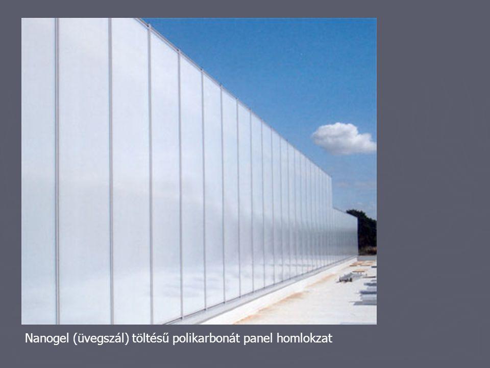 Nanogel (üvegszál) töltésű polikarbonát panel homlokzat