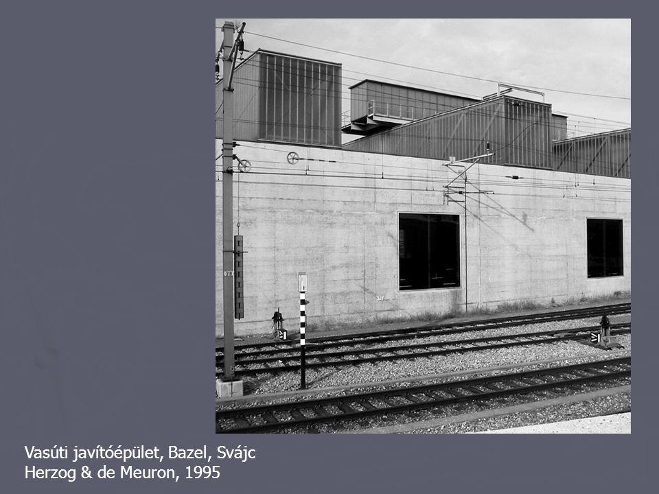 Vasúti javítóépület, Bazel, Svájc Herzog & de Meuron, 1995