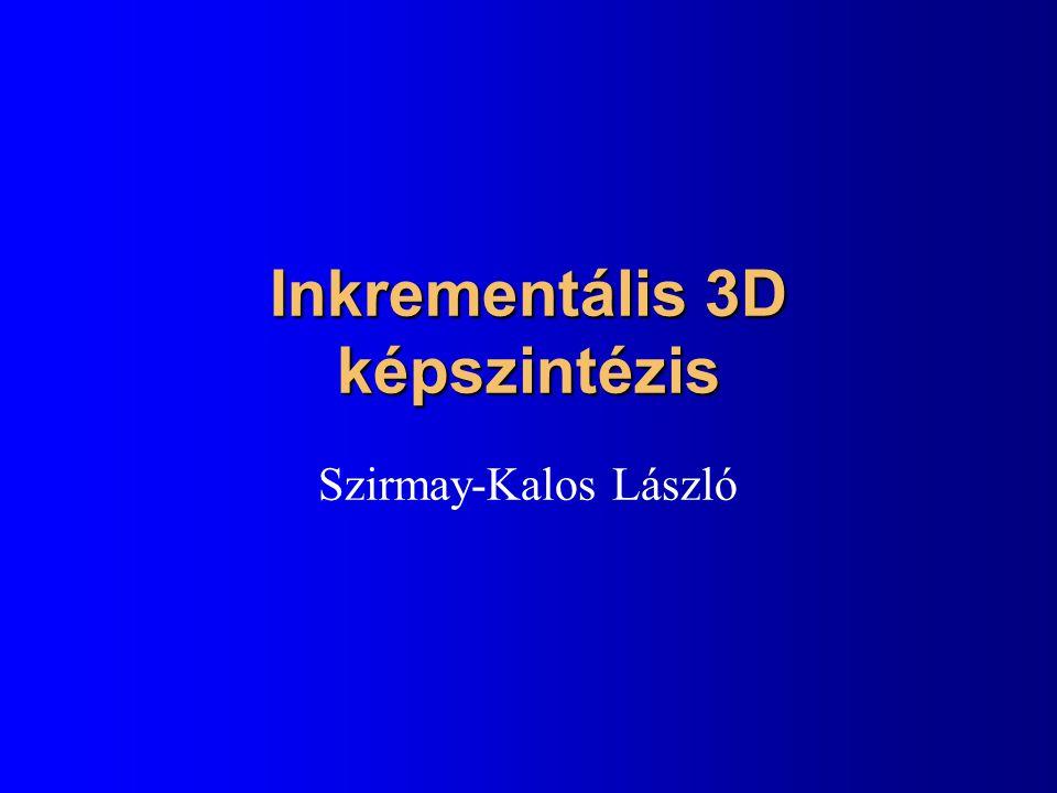 Nézeti transzformáció lépései x y z eye z y 1 1 90 látószög 1.