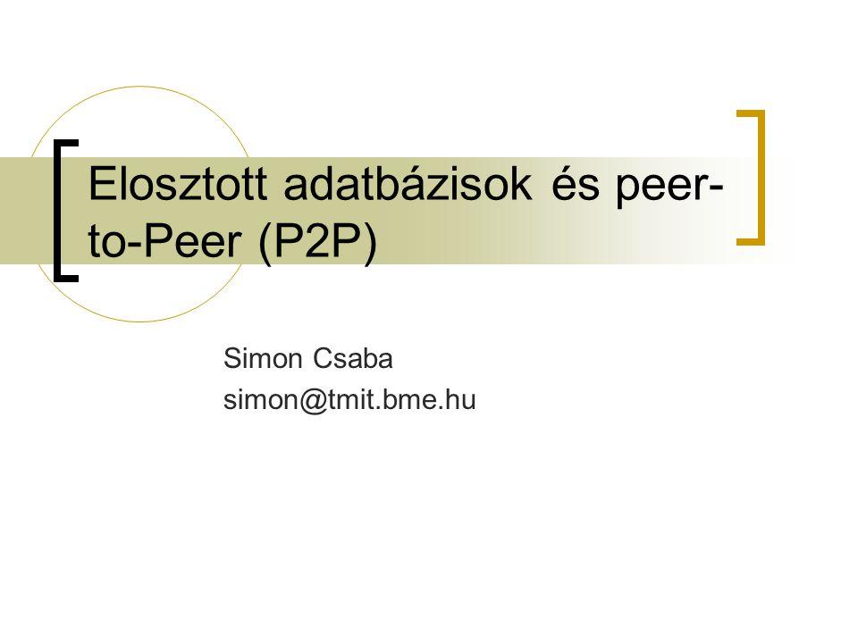 2013.október 16. Miről lesz szó. Mi a P2P. Kell-e nekünk és miért.