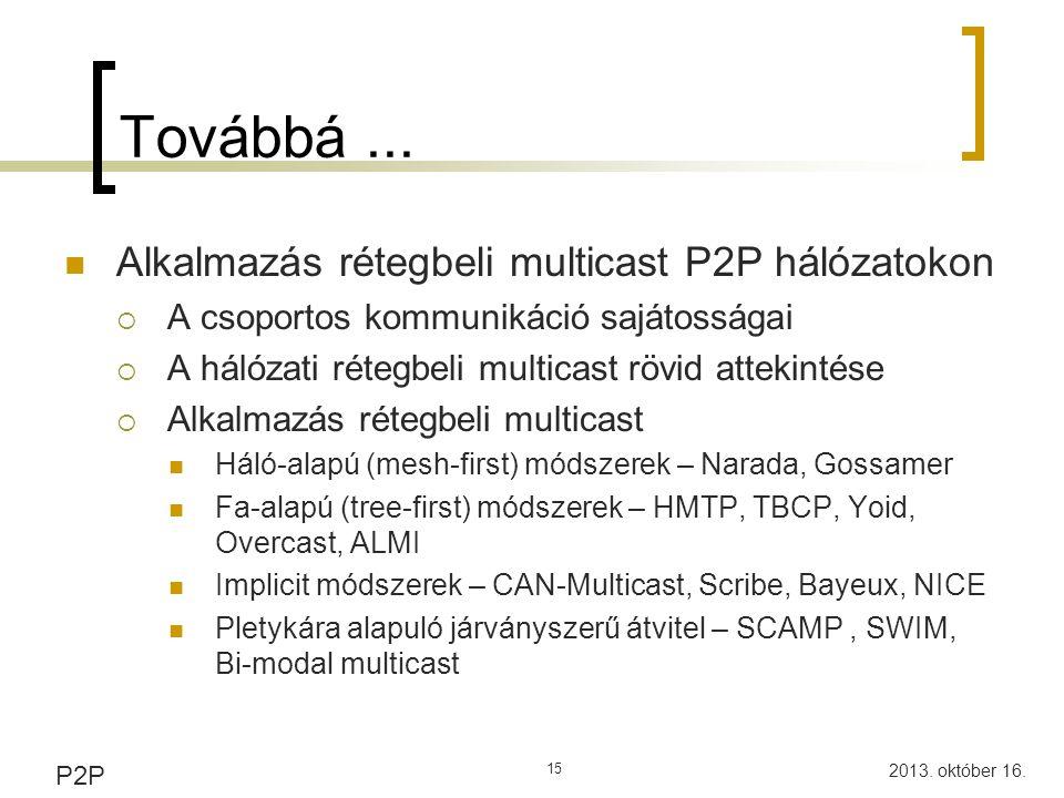 P2P és elosztott adatbázisok