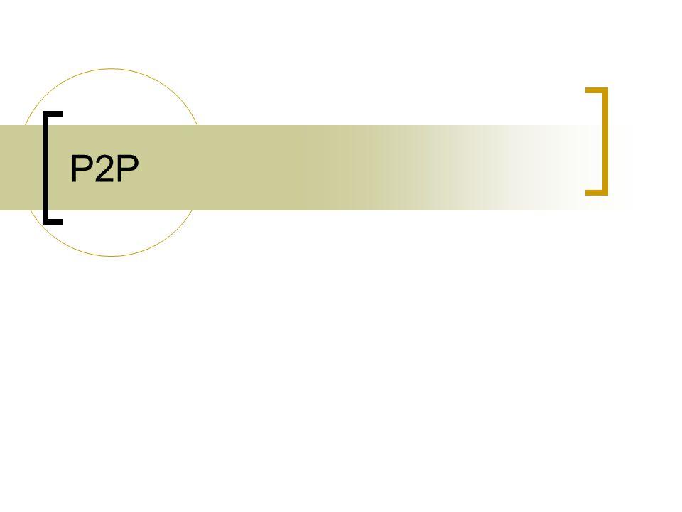 2013.október 16. 4 Mi a P2P.