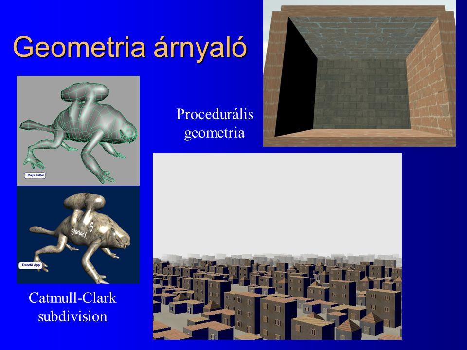 Geometria árnyaló Catmull-Clark subdivision Procedurális geometria