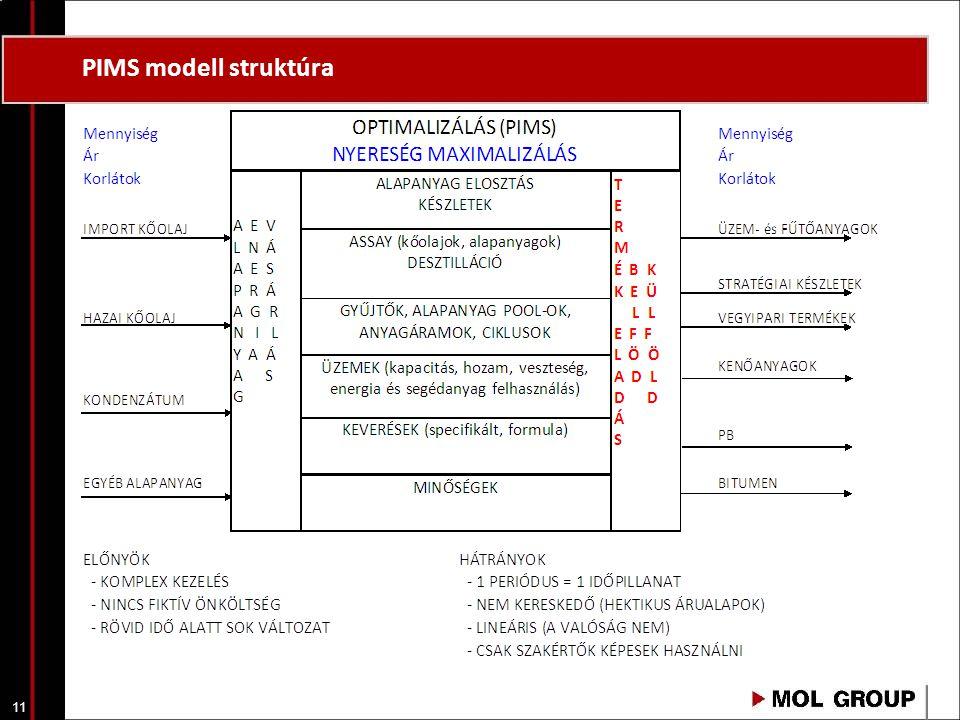 11 PIMS modell struktúra