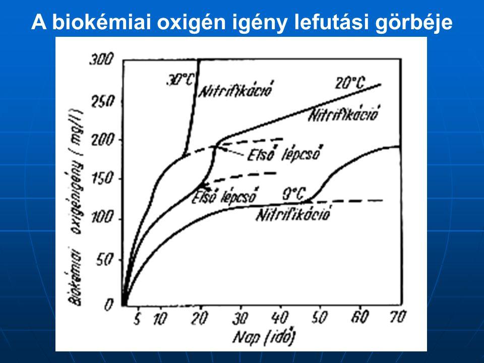 A biokémiai oxigén igény lefutási görbéje