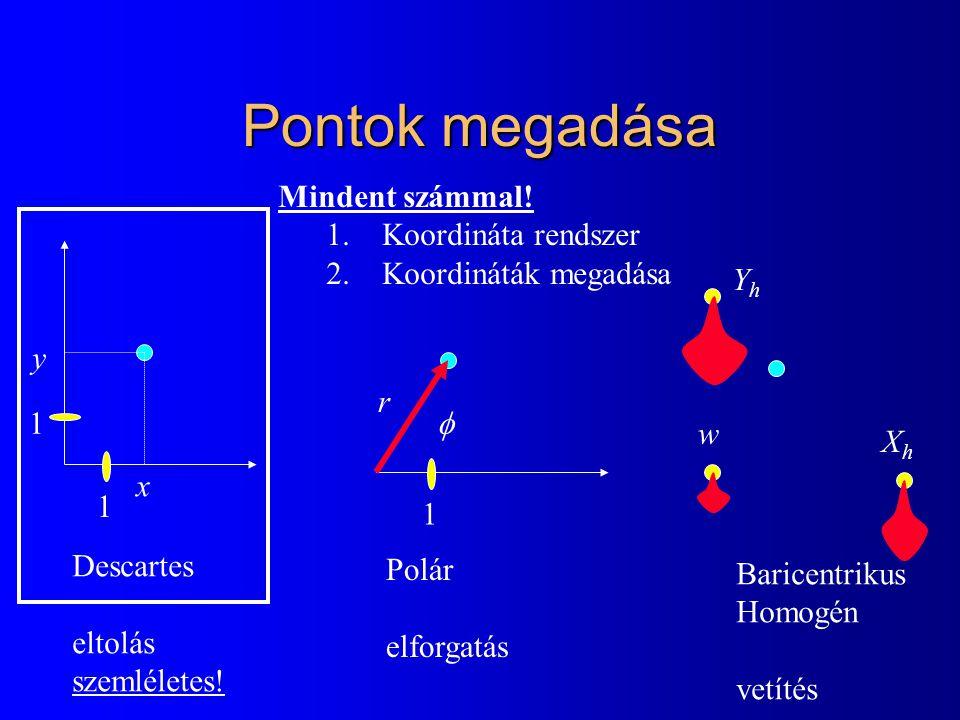 BezierCurve class BezierCurve { Vector * p; int np; float B(int i, float t) { float choose = 1; for(int j = 1; j <= i; j++) choose *= (float)(np-j+1)/j; return choose * pow(t, i) * pow(1-t, np-i); } public: BezierCurve(int n) { np = n; p = new Vector[np+1];} Vector r(float t) { Vector rr(0, 0); for(int i = 0; i <= np; i++) rr += p[i] * B(i,t); return rr; } };
