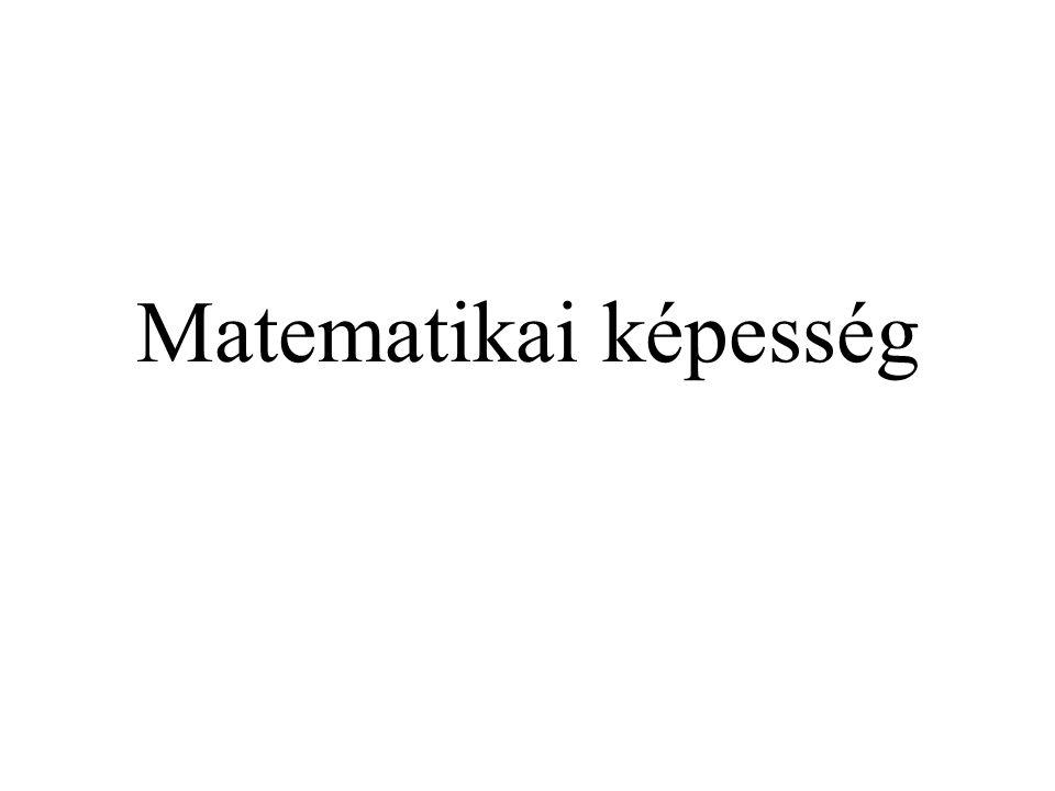 Lehetséges okok: A matematikai érvelésben jól teljesítők a szöveges megfogalmazások matematikailag értelmezhető formába alakításában nagyon jók.