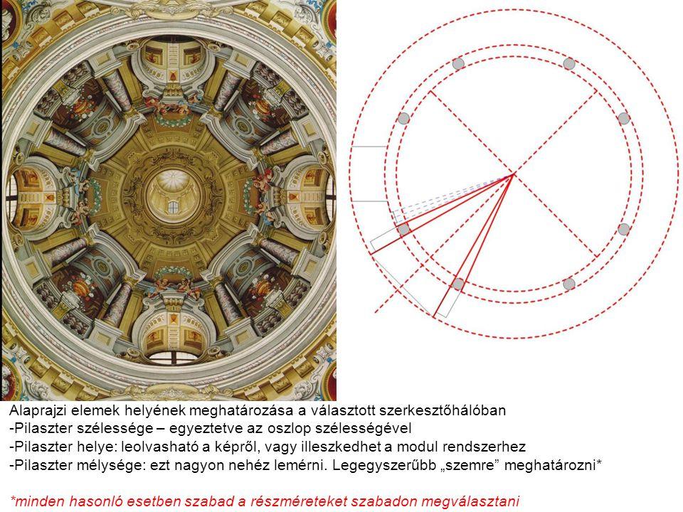 Van, ami nem olvasható le egyértelműen a képről (és nem is szerkeszthető vissza)… Pl.: Mi a pilaszter-oszlop-falsarok viszonya.