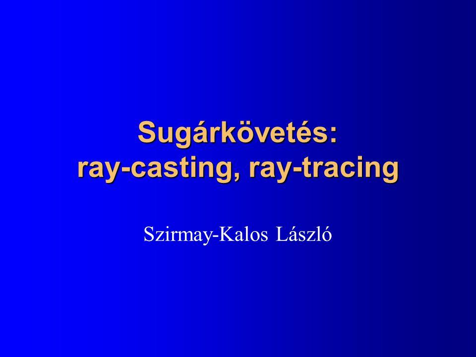 Sugárkövetés: ray-casting, ray-tracing Szirmay-Kalos László