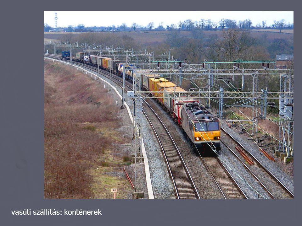 vasúti szállítás: konténerek