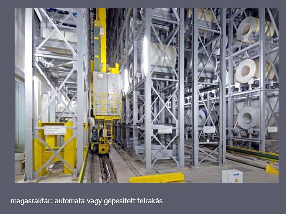 magasraktár: automata vagy gépesített felrakás
