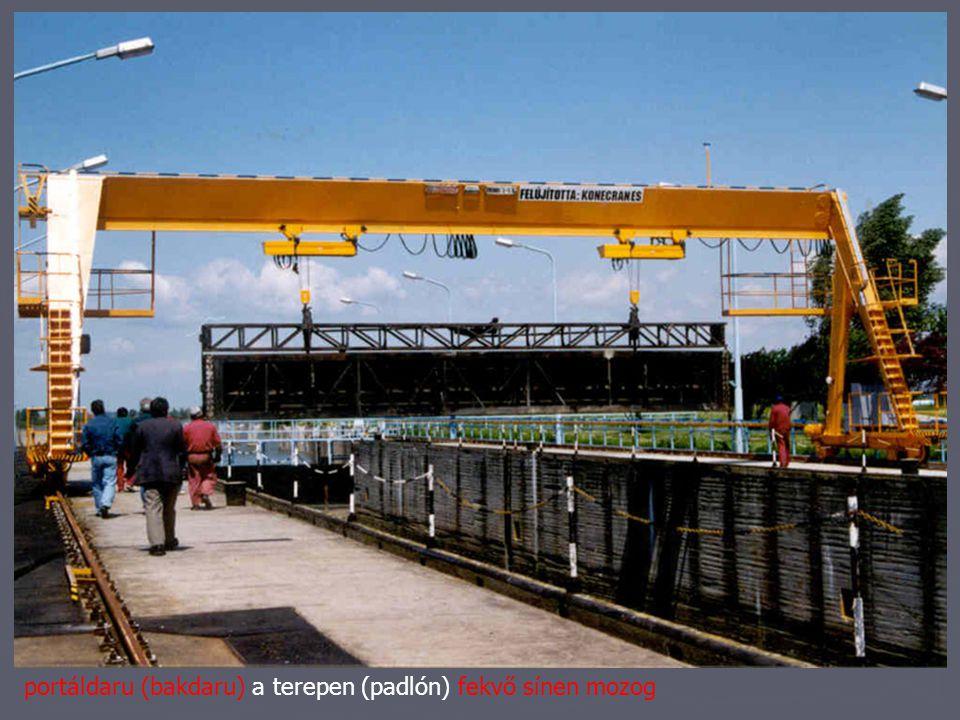 híddaru: csarnokra, vagy szerkezetre magasan elhelyezett sínen mozog statikai kérdések: súly ami az épület szerkezeteire adódik fékerőkhossz- és keresztirányban építészeti kérdések: méretekfizikai méret, működési hely kezelési-karbantartási hely munkavédelem