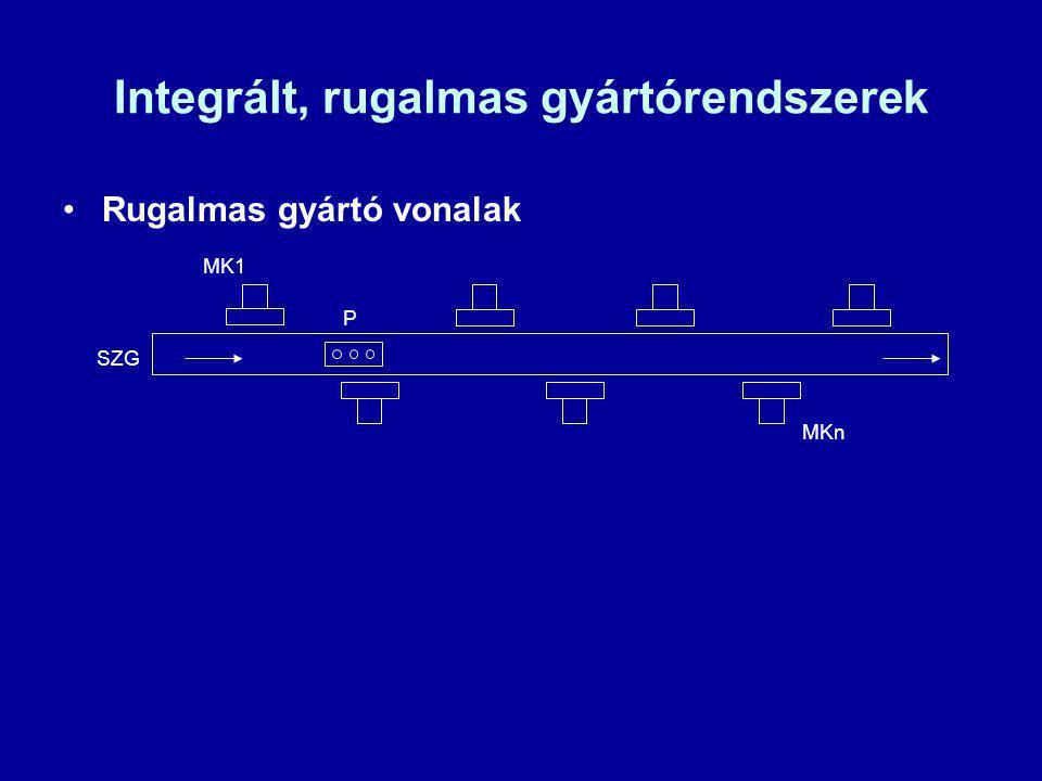 Integrált, rugalmas gyártórendszerek Rugalmas gyártó vonalak SZG P MK1 MKn
