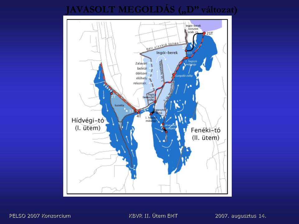 """JAVASOLT MEGOLDÁS (""""D változat) PELSO 2007 KonzorciumKBVR II. Ütem EMT 2007. augusztus 14."""