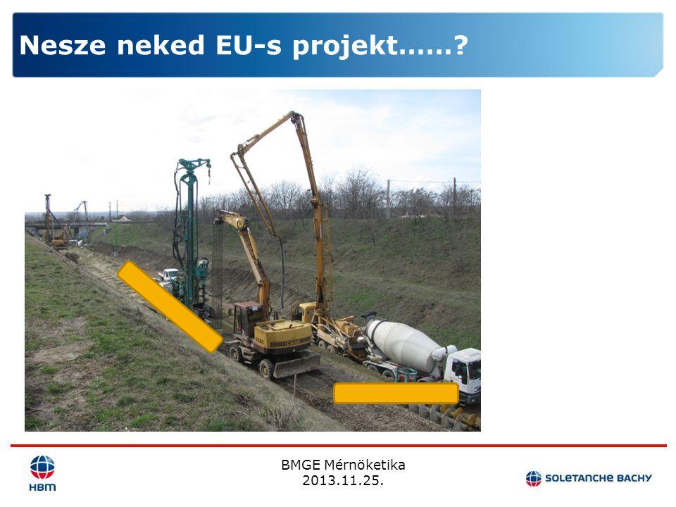 BMGE Mérnöketika 2013.11.25. Nesze neked EU-s projekt……?