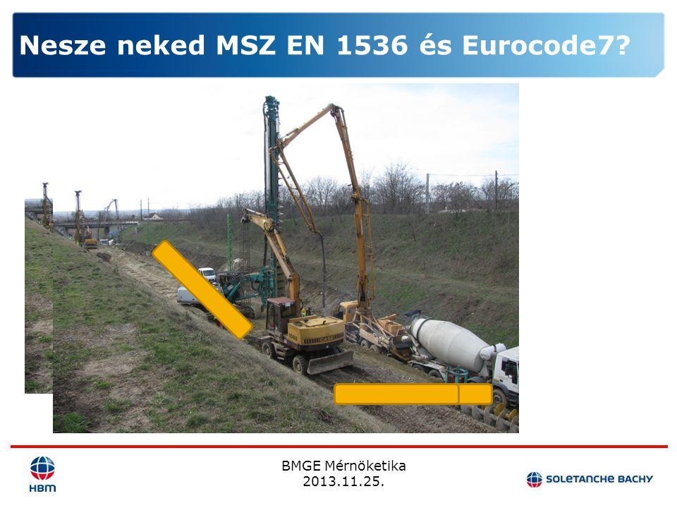 BMGE Mérnöketika 2013.11.25. Nesze neked MSZ EN 1536 és Eurocode7?