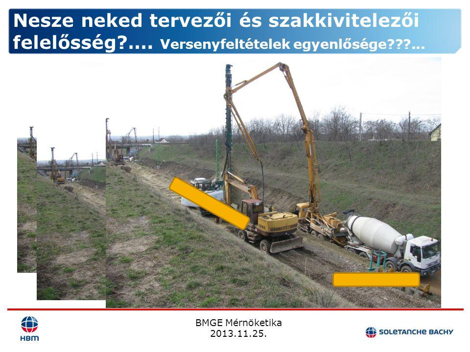BMGE Mérnöketika 2013.11.25. Nesze neked tervezői és szakkivitelezői felelősség?…. Versenyfeltételek egyenlősége???...