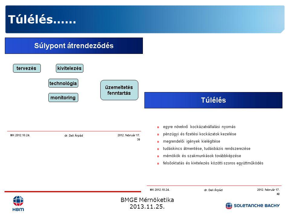 BMGE Mérnöketika 2013.11.25. Túlélés……