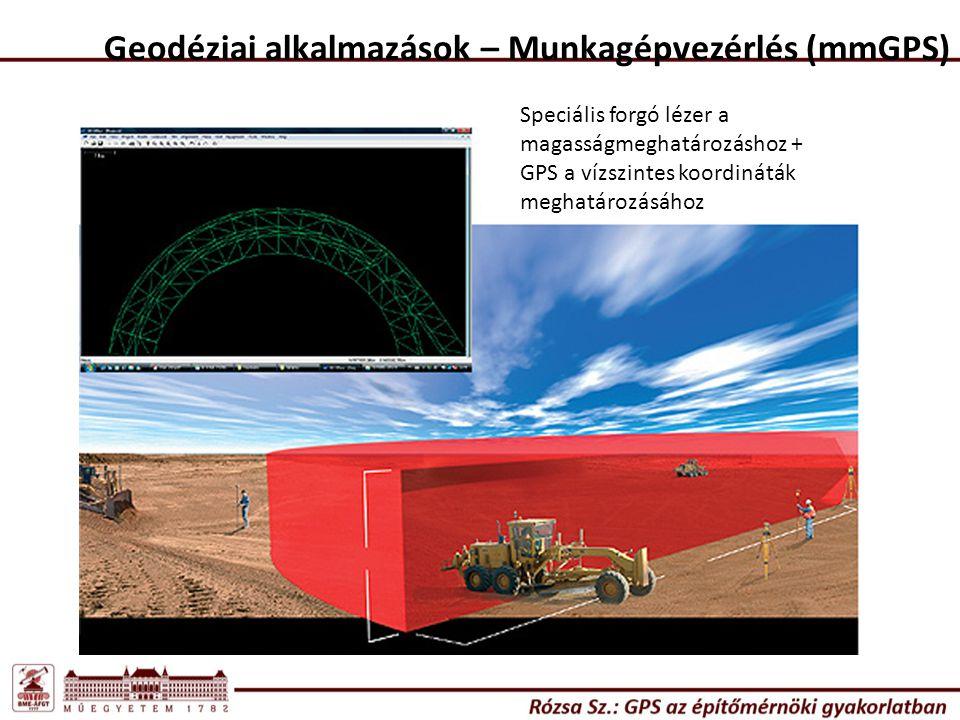 Geodéziai alkalmazások Mozgásvizsgálatok - Ismernünk kell a mozgások várható mértékét, és időbeli lefolyását a megfelelő módszer kiválasztásához (statikus mérés, kinematikus mérés v.