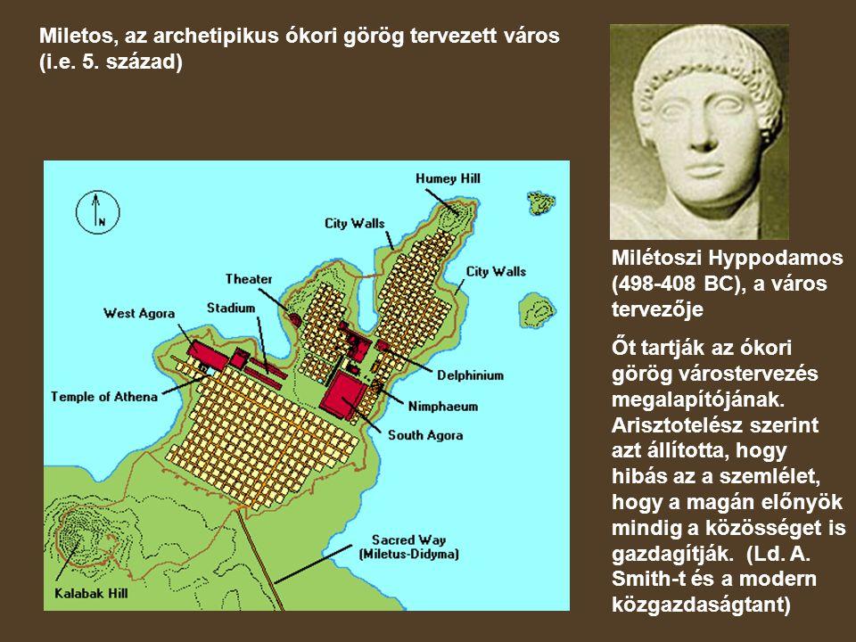 Miletos, az archetipikus ókori görög tervezett város (i.e.