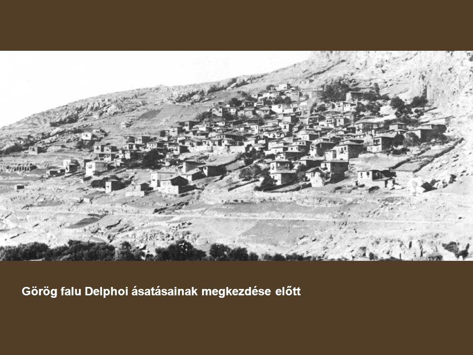 Görög falu Delphoi ásatásainak megkezdése előtt