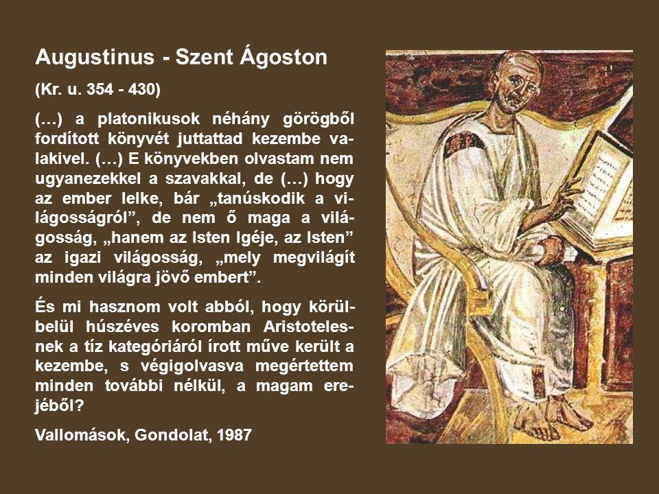 Augustinus - Szent Ágoston (Kr.u.