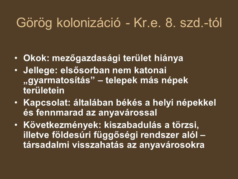 Görög kolonizáció - Kr.e.8.
