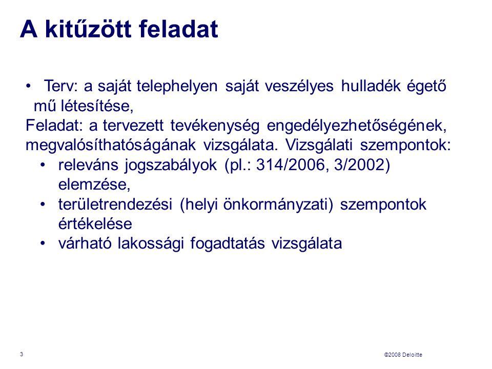 ©2008 Deloitte A legfontosabb tudnivalók I.