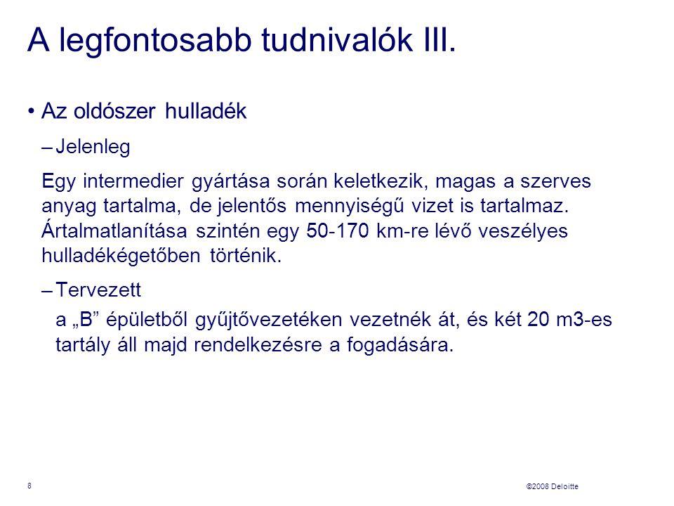 ©2008 Deloitte A legfontosabb tudnivalók III.